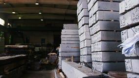 生产车间、设备和板材在地板上 影视素材