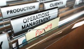 生产过程组织,运行管理 皇族释放例证
