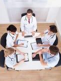 医生会议  免版税库存图片