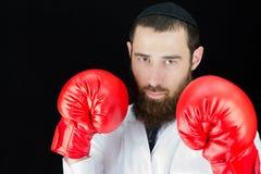 医生佩带的拳击手套 库存图片