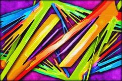 生动抽象颜色的绘画 库存照片