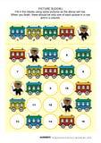 生动描述与列车车箱和玩具熊的sudoku难题 库存图片