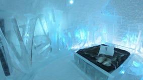 生动描述在冰旅馆在瑞典 免版税图库摄影