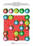 生动描述sudoku难题、的圣诞节或者主题的新年 免版税库存图片