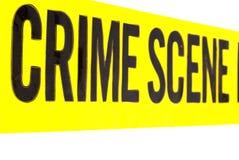 生动犯罪现场的磁带 免版税库存图片