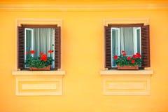 生动的墙壁视窗 免版税库存照片