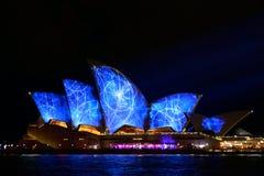 生动的悉尼:灯节,音乐 库存图片