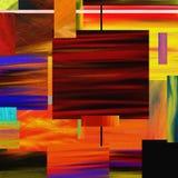 生动的抽象正方形 图库摄影