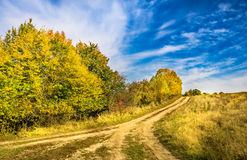 生动的秋天风景 免版税库存照片