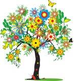 生动的聪明的树 库存图片