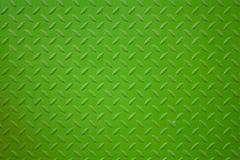 生动绿色金属板条的表面 免版税库存图片