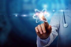生化和技术 混合画法 库存例证