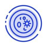 生化,生物,化学,盘,实验室蓝色虚线线象 库存例证