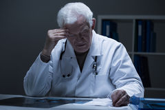 医生和坏诊断 免版税图库摄影