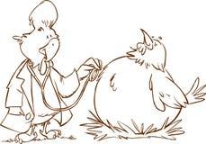医生和患者公鸡鸡 库存图片