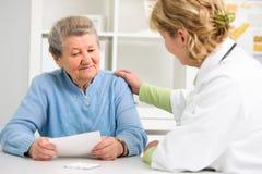 医生和患者 免版税图库摄影