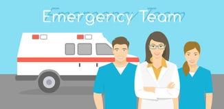 医生和护士救护车人员 库存例证