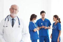 医生和护士队  图库摄影