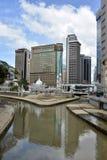 巴生和Gombak河的合流在吉隆坡 库存图片
