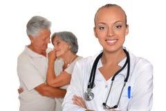 医生女性微笑的年轻人 库存图片