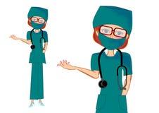 医生女性 皇族释放例证
