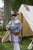 生存史学家参加1812记念战争的在Warrenton,弗吉尼亚 库存照片