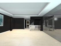 黑生存室内设计 免版税库存照片