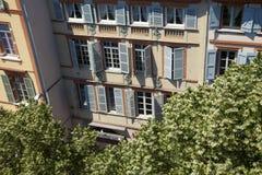 生存房子门面在图卢兹,法国 库存照片
