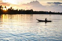 生存样式泰国江边 免版税库存照片