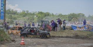 生存的赛车在Bizon轨道展示 库存图片