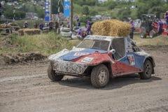 生存的赛车在Bizon轨道展示 免版税库存照片