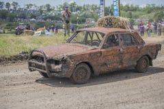 生存的赛车在Bizon轨道展示 免版税库存图片