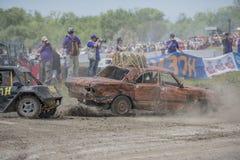 生存的赛车在Bizon轨道展示 免版税图库摄影