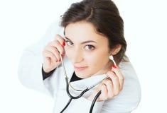年轻医生微笑 图库摄影