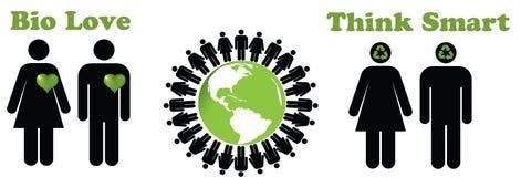 生态人 免版税库存图片