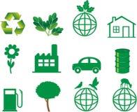 生态例证向量 免版税库存照片