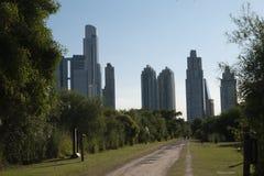 生态储备在马德罗港邻里,布宜诺斯艾利斯,阿根廷 免版税库存照片