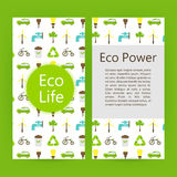 生态力量能量飞行物小册子模板 库存例证