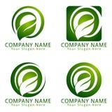 生态和环境概念商标的信件E 免版税库存图片