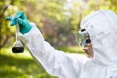 生态和环境污染。   免版税库存图片