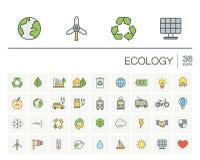 生态和环境颜色传染媒介象 库存图片