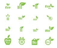 生态图标集 免版税库存照片