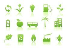 生态图标集 免版税库存图片