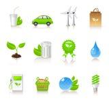 生态图标 免版税图库摄影