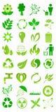生态图标 向量例证