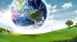 生态地球概念-美国航空航天局装备的这个图象的元素 库存照片