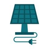 生态太阳电池板的能量清洗 免版税库存照片