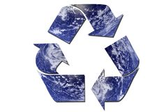生态学回收符号 免版税库存图片