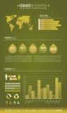 生态学绿色infographic 库存照片