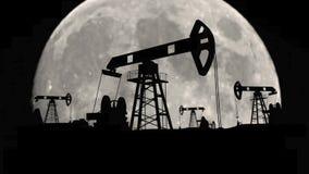 生态工厂抽在地球制造阶段石油单位的汽油油 皇族释放例证